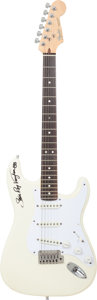 Musical Instruments:Electric Guitars, Stevie Ray Vaughan Signed Circa 1984 Fender American Standard Stratocaster White Electric Guitar....
