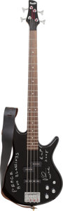 Musical Instruments:Bass Guitars, Verdine White Owned, Played and Signed 2000's Ibanez Gio Black 4-String Electric Bass Guitar.... (Total: 2 Items)