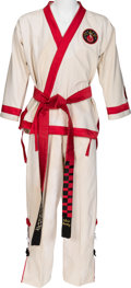 Music Memorabilia:Costumes, Elvis Presley Karate Gi (circa early-1970s)....