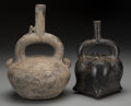 Pre-Columbian:Ceramics, Two Pre-Columbian Stirrup Spout Vessels. ... (Total: 2 Items)