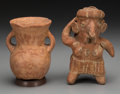 Pre-Columbian:Ceramics, Two Pre-Columbian Objects... (Total: 2 Items)