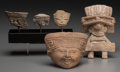 Pre-Columbian:Ceramics, Five Vera Cruz Objects. ... (Total: 5 Items)