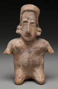Pre-Columbian:Ceramics, A Jalisco Seated Female Figure...
