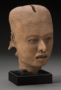 Pre-Columbian:Ceramics, A Vera Cruz Male Head...