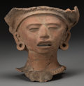 Pre-Columbian:Ceramics, A Vera Cruz Head Fragment. ...