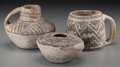 American Indian Art:Pottery, Three Anasazi Black-On-White Vessels ... (Total: 3 Items)