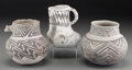 American Indian Art:Pottery, Three Anasazi Black-On-White Pottery Vessels . c. 1100 - 1250 AD...