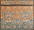 Rugs & Textiles:Textiles, A Framed Chinese Silk Embroidered Robe with Peony and Moth Motif,late Qing Dynasty. 43-1/2 h x 49-1/4 w inches (110.5 x 125...