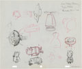 Animation Art:Concept Art, Dan Gordon The Jetsons Concept/Gag Art (Hanna-Barbera,1962).... (Total: 4 )