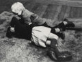 Photographs, Herb Snitzer (American, b. 1932). Girl and Boy on Rug, 1961. Gelatin silver. 6-3/4 x 9 inches (17.1 x 22.9 cm). Signed a...