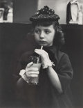 Photographs, Paula Horn Kotis (American, 1922-2013). Easter (Girl in White Gloves), Harlem, New York, 1945. Gelatin silver. 12-3/8 x ...