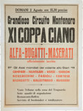 Miscellaneous Collectibles:General, 1931 Coppa Ciano Race Poster....