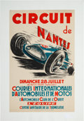 Miscellaneous Collectibles:General, 1946 Circuit de Nantes Poster....