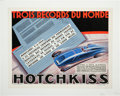 Miscellaneous Collectibles:General, 1934 Hotchkiss Three World Records Poster....