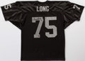 Football Collectibles:Uniforms, Howie Long Signed Raiders Jersey....