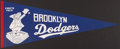 Baseball Collectibles:Others, 1950's Brooklyn Dodgers Pennant....