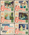 "Movie Posters:Animation, Cinderella (RKO, 1950/Buena Vista, R-1965). Title Lobby Card, Lobby Cards (6) & Reissue Lobby Cards (3) (11"" X 14""). Animati... (Total: 9 Items)"