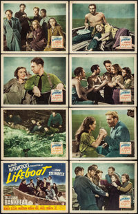 "Lifeboat (20th Century Fox, 1944). Lobby Card Set of 8 (11"" X 14""). Hitchcock. ... (Total: 8 Items)"