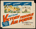"""Movie Posters:War, Victory Through Air Power (United Artists, 1943). Title Lobby Card(11"""" X 14""""). War.. ..."""