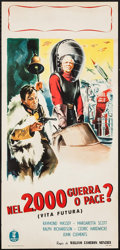 "Movie Posters:Science Fiction, Things to Come (Minerva Film, R-1950s). Italian Locandina (12.75"" X27""). Science Fiction.. ..."