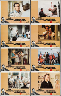 """One Flew Over the Cuckoo's Nest (United Artists, 1975). Lobby Card Set of 8 (11"""" X 14""""). Academy Award Winners..."""