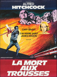 "North by Northwest (MGM, R-1982). French Grande (45.75"" X 61.5""). Hitchcock"