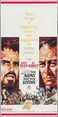 "Movie Posters:Drama, The Agony and the Ecstasy (20th Century Fox, 1965). Three Sheet (41"" X 83""). Drama.. ..."