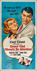 """Movie Posters:Comedy, Every Girl Should Be Married (RKO, 1948). Three Sheet (41"""" X 80""""). Comedy.. ..."""