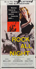 "Movie Posters:Rock and Roll, Rock All Night (American International, 1957). Three Sheet (41"" X 79""). Rock and Roll.. ..."