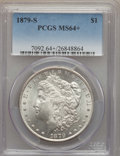 Morgan Dollars: , 1879-S $1 MS64+ PCGS. PCGS Population (38861/33229 and 708/659+). NGC Census: (39131/31570 and 219/380+). Mintage: 9,110,00...