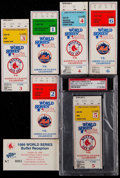 Baseball Collectibles:Tickets, 1986 World Series Tickets Stubs Lot of 6....