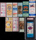 Baseball Collectibles:Tickets, 1980-88 Major League Baseball All Star Game Full Tickets Lot of10....