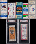 Baseball Collectibles:Tickets, 1980-86 Major League Baseball All Star Game Full Tickets Run of7....
