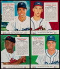 Baseball Cards:Lots, 1953-55 Red Man Baseball Collection (57) - All With Tabs....