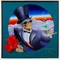 Music Memorabilia:Original Art, Grateful Dead - Painting By Stanley Mouse Of The Cover Of The Book One More Saturday Night Reflections With The Gratefu...