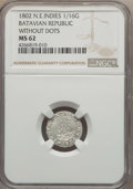 Netherlands East Indies, Netherlands East Indies: Batavian Republic. Holland 1/16 Gulden1802 MS62 NGC,...