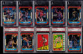 Basketball Cards:Lots, 1972-1986 Topps & Fleer Basketball Graded Collection (10)....