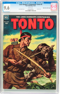 The Lone Ranger's Companion Tonto #5 Mile High Pedigree (Dell, 1952) CGC NM+ 9.6 White pages
