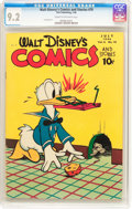 Golden Age (1938-1955):Cartoon Character, Walt Disney's Comics and Stories #70 (Dell, 1946) CGC NM- 9.2 Creamto off-white pages....