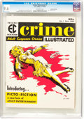 Magazines:Crime, Crime Illustrated #1 Gaines File Pedigree 7/11 (EC, 1955) CGC NM+9.6 Off-white pages....