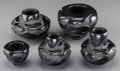 American Indian Art:Pottery, Five Santa Clara Carved Blackware Jars . Victor and Naomi Ekleberry... (Total: 5 Items)