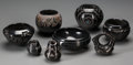 American Indian Art:Pottery, Eight Santa Clara Blackware Jars . Various Artists... (Total: 8Items)