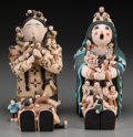 American Indian Art:Pottery, Two Southwest Polychrome Storytellers... (Total: 2 Items)