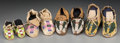 American Indian Art:Beadwork and Quillwork, Four Pairs of Plains Child's Beaded Hide Moccasins ... (Total: 8Items)