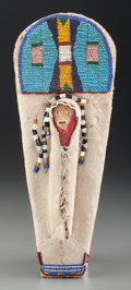 American Indian Art:Beadwork and Quillwork, A Plateau Beaded Hide Model Cradleboard...