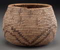 American Indian Art:Baskets, A California Polychrome Coiled Jar...