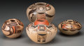 American Indian Art:Pottery, Four Hopi Polychrome Jars . Adele Nampeyo, Reva Polacca Nampeyo,Melda Nampeyo... (Total: 4 Items)
