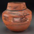 American Indian Art:Pottery, A Hopi Black-On-Red Jar. ...