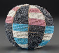 American Indian Art:Beadwork and Quillwork, A Wichita Beaded Hide Ball...