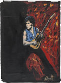 Music Memorabilia:Original Art, Bruce Springsteen Painting by Denny Dent. ...